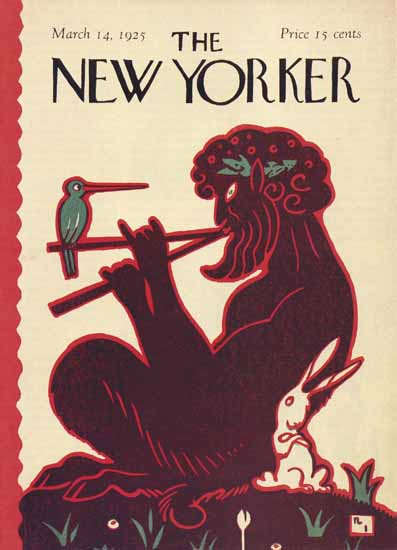 Roaring 1920s Rea Irvin The New Yorker 1925_03_14 Copyright | Roaring 1920s Ad Art and Magazine Cover Art