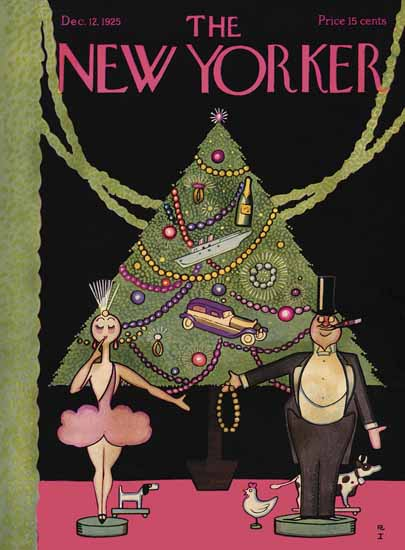Roaring 1920s Rea Irvin The New Yorker 1925_12_12 Copyright | Roaring 1920s Ad Art and Magazine Cover Art
