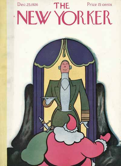 Roaring 1920s Rea Irvin The New Yorker 1926_12_25 Copyright   Roaring 1920s Ad Art and Magazine Cover Art