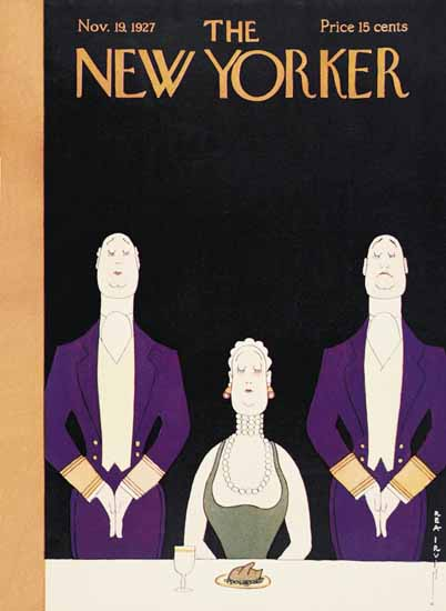 Roaring 1920s Rea Irvin The New Yorker 1927_11_19 Copyright | Roaring 1920s Ad Art and Magazine Cover Art