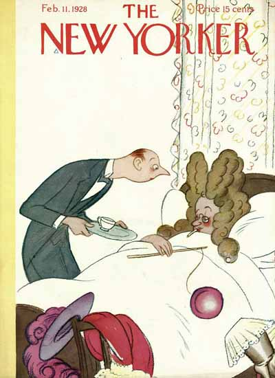 Roaring 1920s Rea Irvin The New Yorker 1928_02_11 Copyright | Roaring 1920s Ad Art and Magazine Cover Art