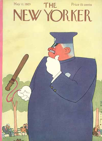 Roaring 1920s Rea Irvin The New Yorker 1929_05_11 Copyright | Roaring 1920s Ad Art and Magazine Cover Art