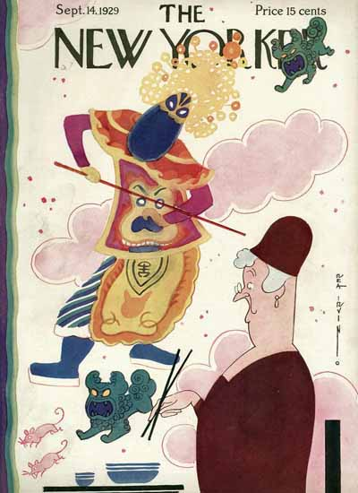 Roaring 1920s Rea Irvin The New Yorker 1929_09_14 Copyright | Roaring 1920s Ad Art and Magazine Cover Art