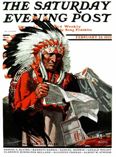 Roaring 1920s Remington Schuyler Saturday Evening Post 1922_02_25 | Roaring 1920s Ad Art and Magazine Cover Art