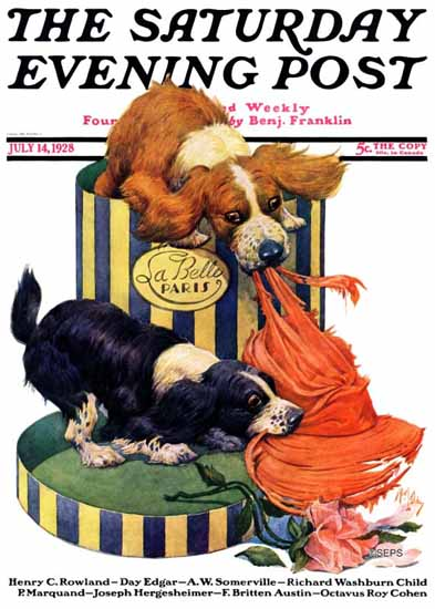 Roaring 1920s Robert L Dickey Saturday Eve Post Dogs Life 1928_07_14 | Roaring 1920s Ad Art and Magazine Cover Art