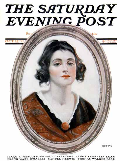 Roaring 1920s Ronald Anderson Saturday Evening Post Cover 1921_10_15 | Roaring 1920s Ad Art and Magazine Cover Art