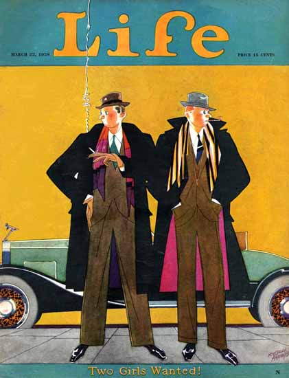 Roaring 1920s Russell Patterson Life Magazine 1928-03-22 Copyright | Roaring 1920s Ad Art and Magazine Cover Art