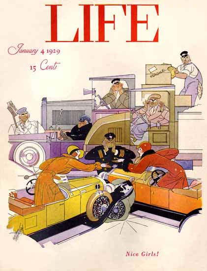 Roaring 1920s Russell Patterson Life Magazine 1929-01-04 Copyright | Roaring 1920s Ad Art and Magazine Cover Art