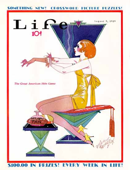 Roaring 1920s Russell Patterson Life Magazine 1929-08-09 Copyright | Roaring 1920s Ad Art and Magazine Cover Art