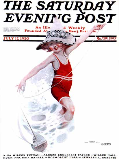 Roaring 1920s Sarah Stilwell-Weber Saturday Evening Post 1920_07_17 | Roaring 1920s Ad Art and Magazine Cover Art