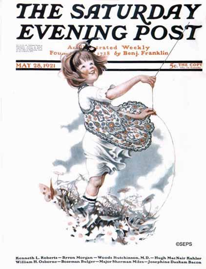 Roaring 1920s Sarah Stilwell-Weber Saturday Evening Post 1921_05_28 | Roaring 1920s Ad Art and Magazine Cover Art