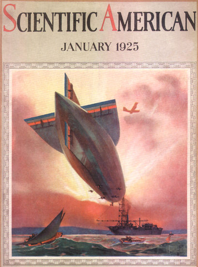 Roaring 1920s Scientific American Cover Zeppelin 1925 | Roaring 1920s Ad Art and Magazine Cover Art