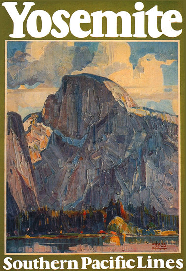 Roaring 1920s Southern Pacific Lines Yosemite 1926   Roaring 1920s Ad Art and Magazine Cover Art