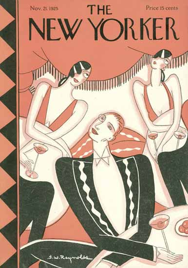 Roaring 1920s Stanley W Reynolds The New Yorker 1925_11_21 Copyright | Roaring 1920s Ad Art and Magazine Cover Art