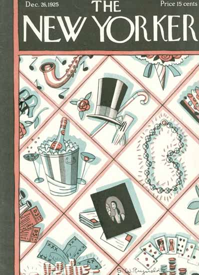 Roaring 1920s Stanley W Reynolds The New Yorker 1925_12_26 Copyright | Roaring 1920s Ad Art and Magazine Cover Art
