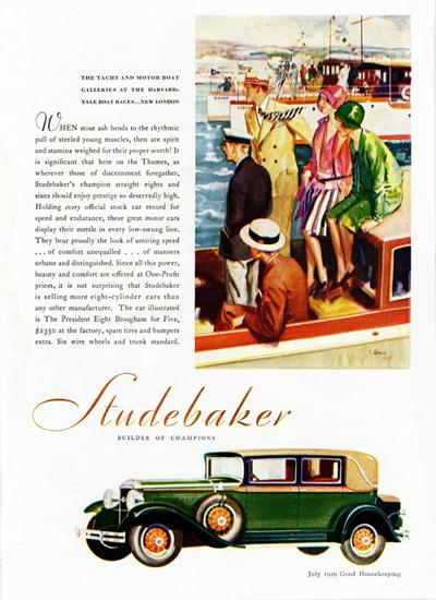 Roaring 1920s Studebaker President Eight Brougham Five 1929 | Roaring 1920s Ad Art and Magazine Cover Art