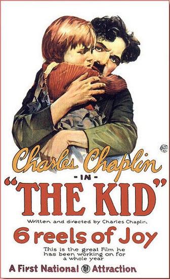 Roaring 1920s The Kid Charles Chaplin Movie 1921 | Roaring 1920s Ad Art and Magazine Cover Art