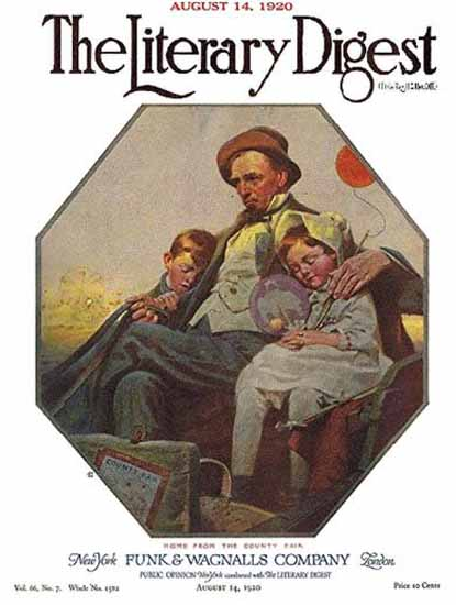 Roaring 1920s The Literary Digest County Fair 1920 Norman Rockwell | Roaring 1920s Ad Art and Magazine Cover Art
