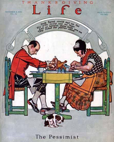 Roaring 1920s The Pessimist Life Humor Magazine 1920-11-04 Copyright | Roaring 1920s Ad Art and Magazine Cover Art