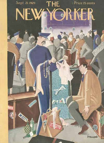 Roaring 1920s Theodore G Haupt The New Yorker 1929_09_21 Copyright | Roaring 1920s Ad Art and Magazine Cover Art