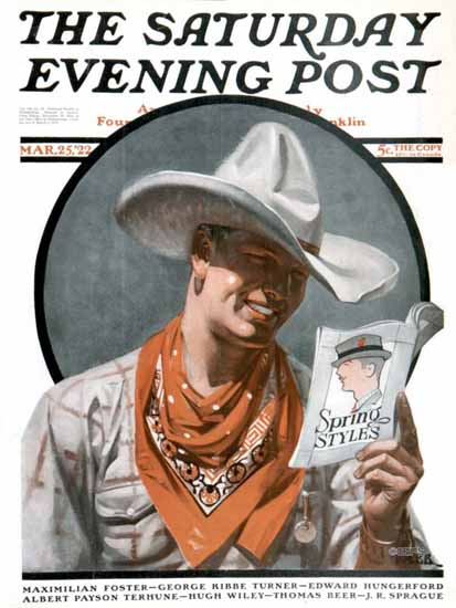 Roaring 1920s Tom Webb Saturday Evening Post Spring 1922_03_25 | Roaring 1920s Ad Art and Magazine Cover Art