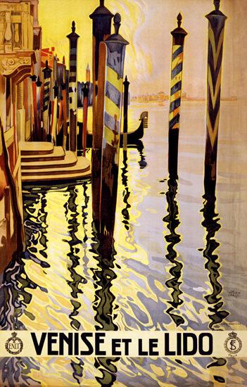 Roaring 1920s Venise Et Le Lido 1920s Venezia Venice | Roaring 1920s Ad Art and Magazine Cover Art