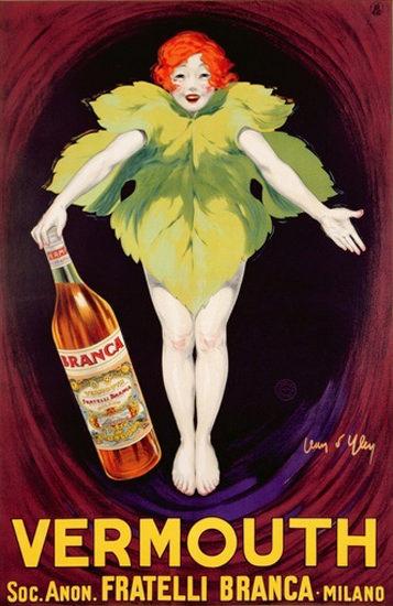 Roaring 1920s Vermouth Fratelli Branca Milano 1922   Roaring 1920s Ad Art and Magazine Cover Art