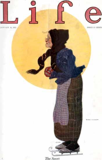 Roaring 1920s Victor C Anderson Life Magazine 1922-01-26 Copyright | Roaring 1920s Ad Art and Magazine Cover Art