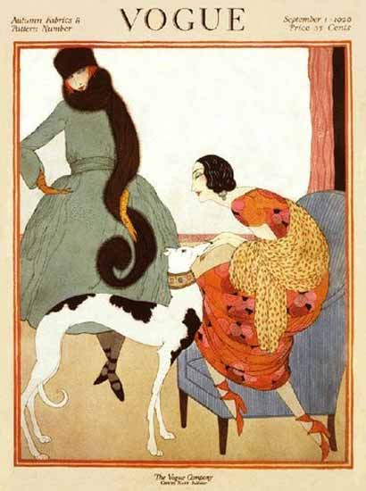 Roaring 1920s Vogue Cover 1920-09-01 Copyright | Roaring 1920s Ad Art and Magazine Cover Art