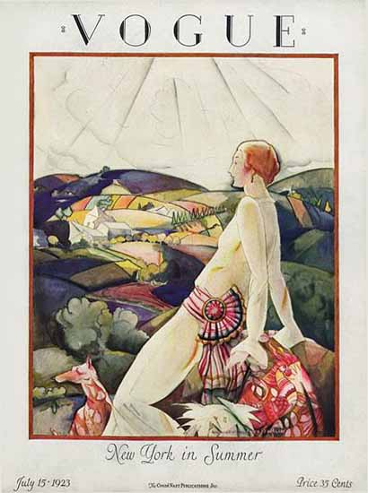 Roaring 1920s Vogue Cover 1923-07-15 Copyright | Roaring 1920s Ad Art and Magazine Cover Art