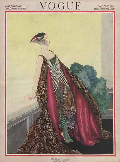 Roaring 1920s Vogue Magazine 1921-05-01 Copyright | Roaring 1920s Ad Art and Magazine Cover Art