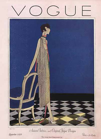 Roaring 1920s Vogue Magazine 1925-09-01 Copyright   Roaring 1920s Ad Art and Magazine Cover Art