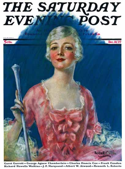 Roaring 1920s WH Coffin Artist Saturday Evening Post 1927_12_10 | Roaring 1920s Ad Art and Magazine Cover Art