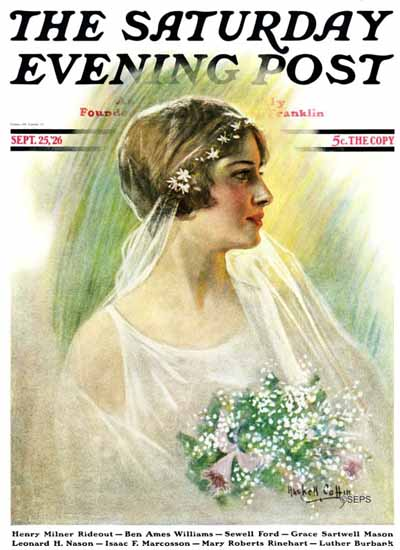 Roaring 1920s WH Coffin Cover Artist Saturday Evening Post 1926_09_25 | Roaring 1920s Ad Art and Magazine Cover Art