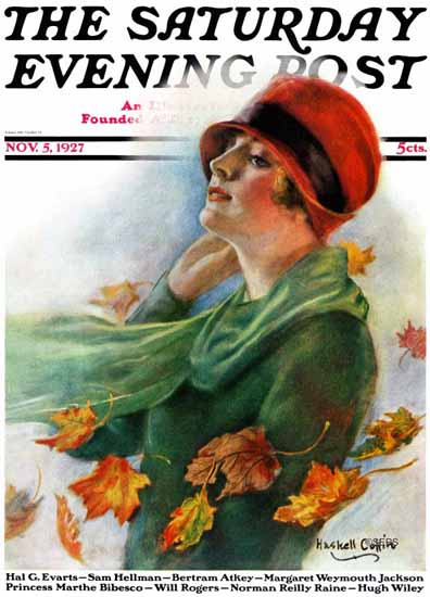 Roaring 1920s WH Coffin Cover Artist Saturday Evening Post 1927_11_05 | Roaring 1920s Ad Art and Magazine Cover Art