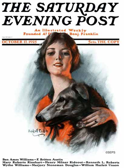 Roaring 1920s WH Coffin Saturday Evening Post 1925_10_17   Roaring 1920s Ad Art and Magazine Cover Art