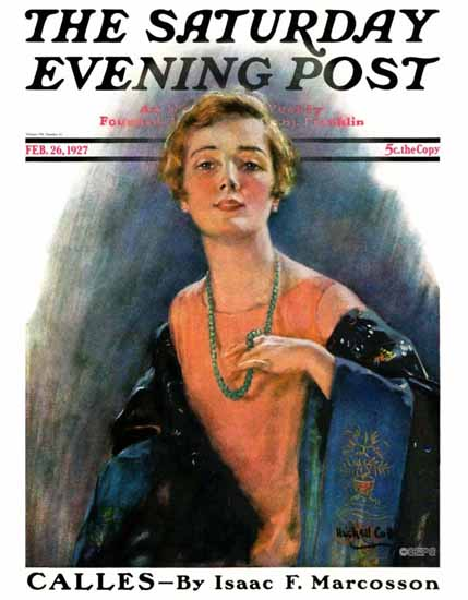 Roaring 1920s WH Coffin Saturday Evening Post 1927_02_26   Roaring 1920s Ad Art and Magazine Cover Art