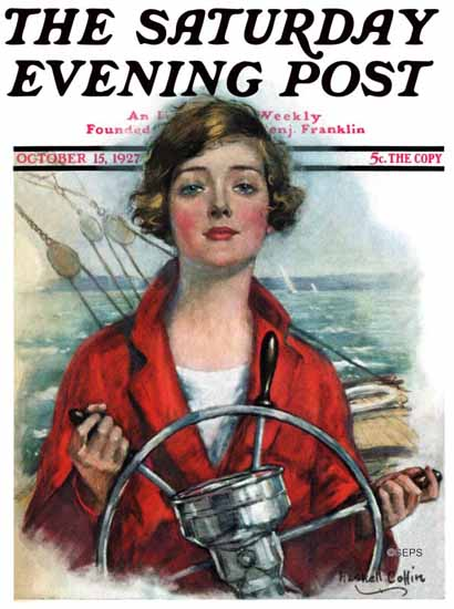 Roaring 1920s WH Coffin Saturday Evening Post 1927_10_15   Roaring 1920s Ad Art and Magazine Cover Art