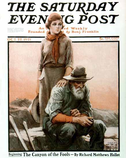 Roaring 1920s WHD Koerner Saturday Evening Post Fools 1921_10_22 | Roaring 1920s Ad Art and Magazine Cover Art