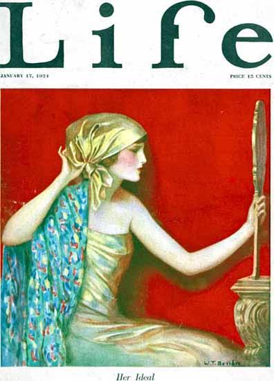 Roaring 1920s WT Benda Life Humor Magazine 1924-01-17 Copyright | Roaring 1920s Ad Art and Magazine Cover Art