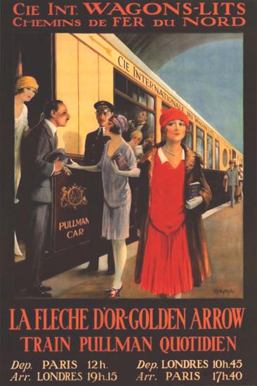 Roaring 1920s Wagons-Lits La Fleche D Or Pullman 1920s   Roaring 1920s Ad Art and Magazine Cover Art