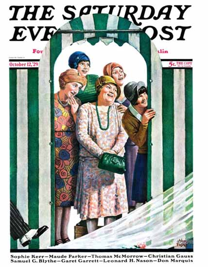 Roaring Twenties 1920s Alan Foster Saturday Evening Post 1929_10_12 | Roaring 1920s Ad Art and Magazine Cover Art