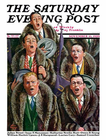 Roaring Twenties 1920s Alan Foster Saturday Evening Post 1929_11_16 | Roaring 1920s Ad Art and Magazine Cover Art