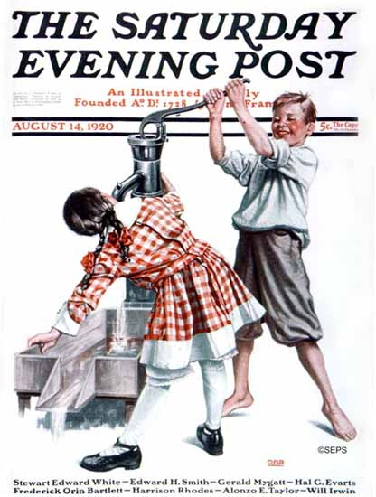 Roaring Twenties 1920s Alfred E Orr Saturday Evening Post 1920_08_14   Roaring 1920s Ad Art and Magazine Cover Art