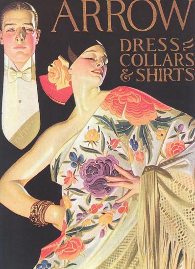 Roaring Twenties 1920s Arrow Dress Collars And Shirts 1926 | Roaring 1920s Ad Art and Magazine Cover Art