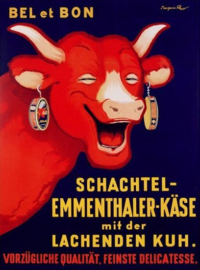 Roaring Twenties 1920s Bel Et Bon La Vache Qui Rit 1929 | Roaring 1920s Ad Art and Magazine Cover Art