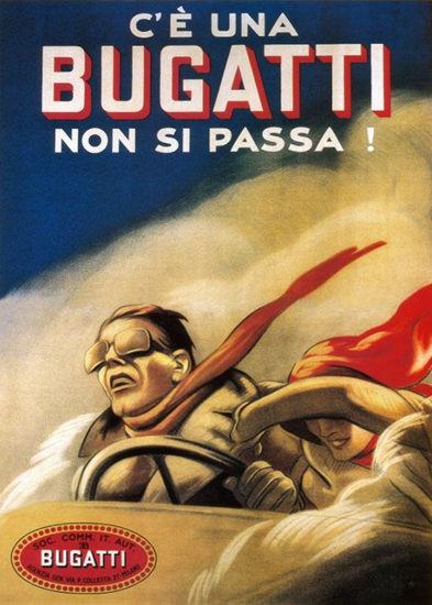 Roaring Twenties 1920s Bugatti Non Si Passa 1922 | Roaring 1920s Ad Art and Magazine Cover Art