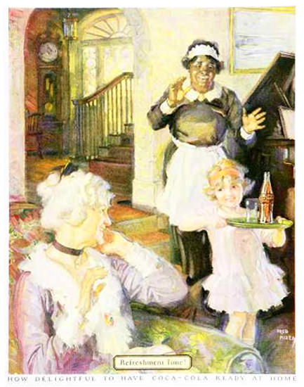 Roaring Twenties 1920s Coca-Cola Ready At Home 1920s | Roaring 1920s Ad Art and Magazine Cover Art