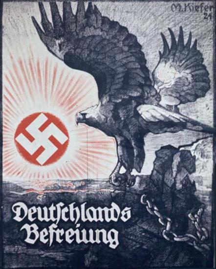 Roaring Twenties 1920s Deutschlands Befreiung 1924 M Kiefer   Roaring 1920s Ad Art and Magazine Cover Art