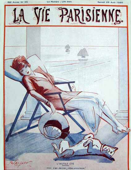 Roaring Twenties 1920s La Vie Parisienne 1920 L Inutile Ete | Roaring 1920s Ad Art and Magazine Cover Art